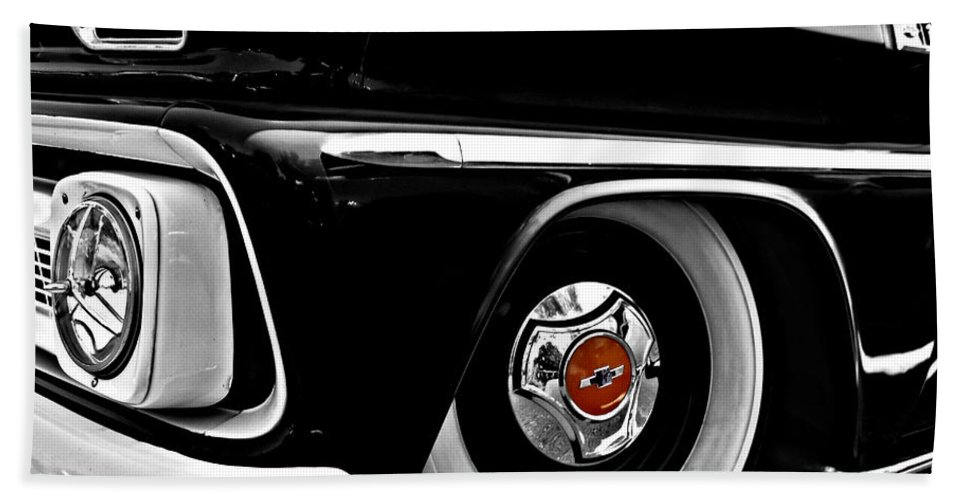 Chevy Beach Towel featuring the photograph Chevy Truckin by Kristie Bonnewell