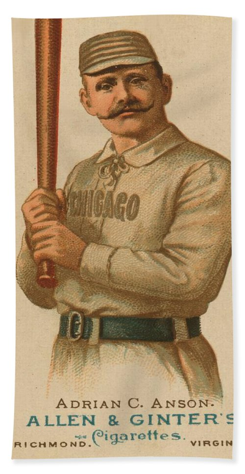 Baseball Beach Towel featuring the digital art Chicago White Stockings 1887 by George Pedro
