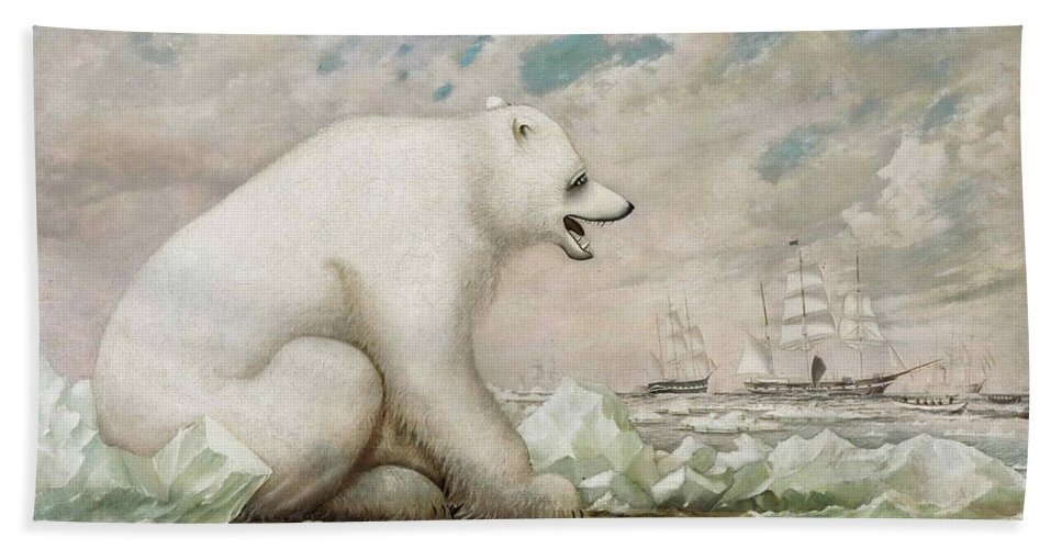 Charles Sidney Raleigh Beach Towel featuring the painting Chilly Observation by Charles Sidney Raleigh