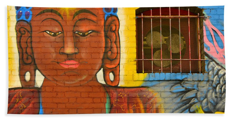 Wall Beach Towel featuring the photograph China Town Art by Jack Daulton