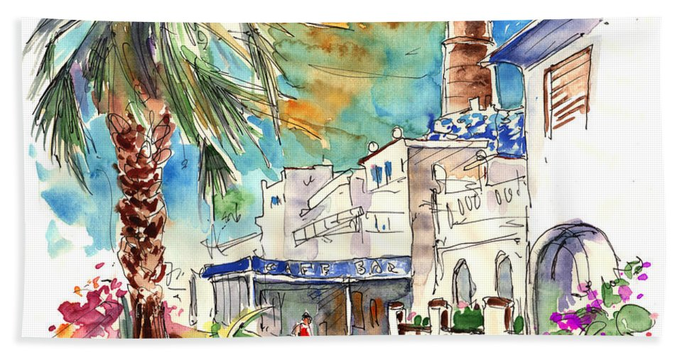 Travel Beach Sheet featuring the painting Chipiona Spain 05 by Miki De Goodaboom