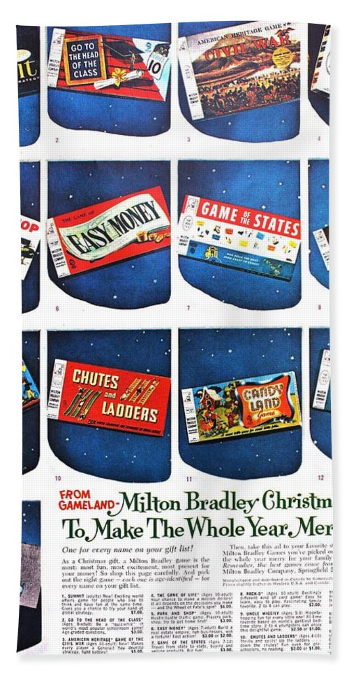Vintage Beach Towel featuring the photograph Christmas Wish List 1960 by Benjamin Yeager