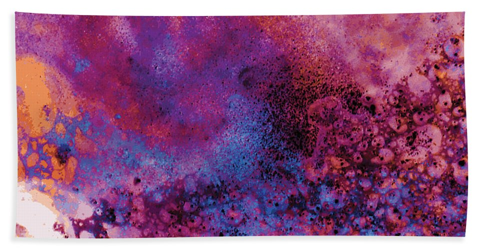 Abstract Beach Sheet featuring the digital art Chromatic No 1 by James Kramer