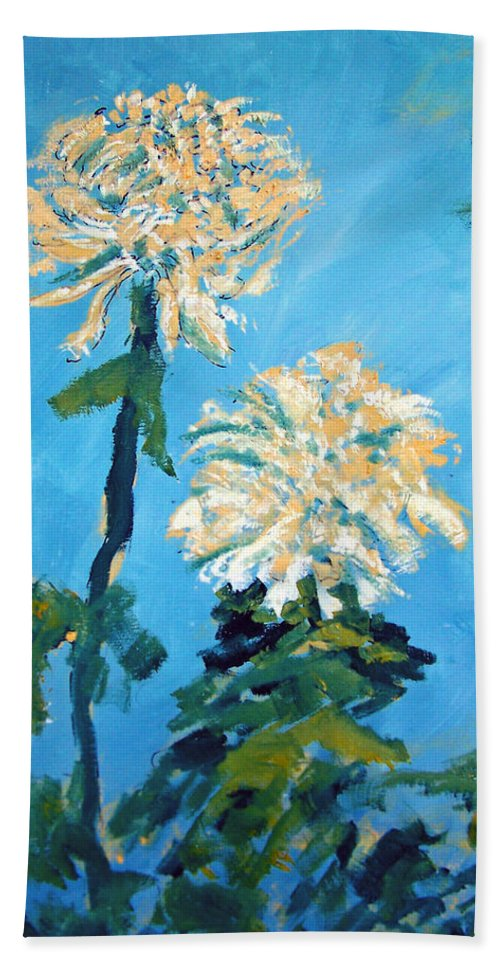Flower Beach Towel featuring the painting Chrysanthemum Floral by Patricia Taylor