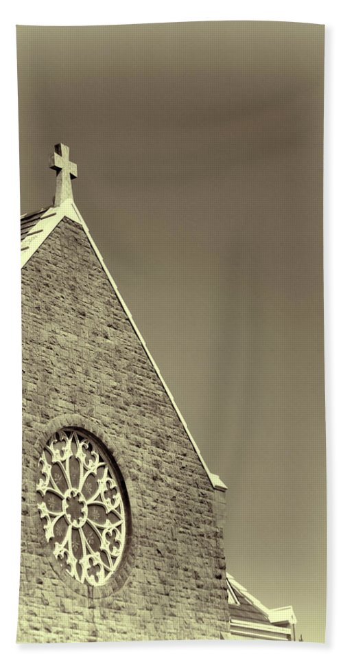 Beach Towel featuring the photograph Church In Tacoma Washington 3 by Cathy Anderson