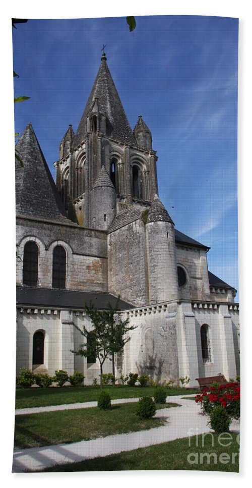 Church Beach Towel featuring the photograph Church - Loches - France by Christiane Schulze Art And Photography