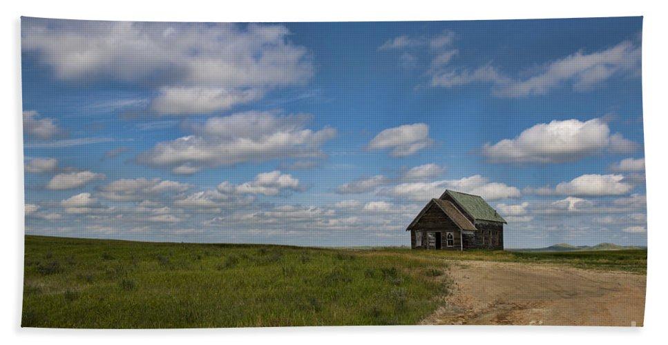 Church Beach Towel featuring the photograph Church On The Plains by David Arment