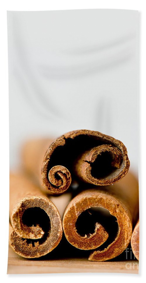Spices Beach Towel featuring the photograph Cinnamons And Clove by Ivy Ho