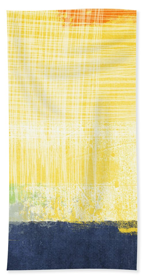 Abstract Painting Beach Towel featuring the painting Circadian by Linda Woods