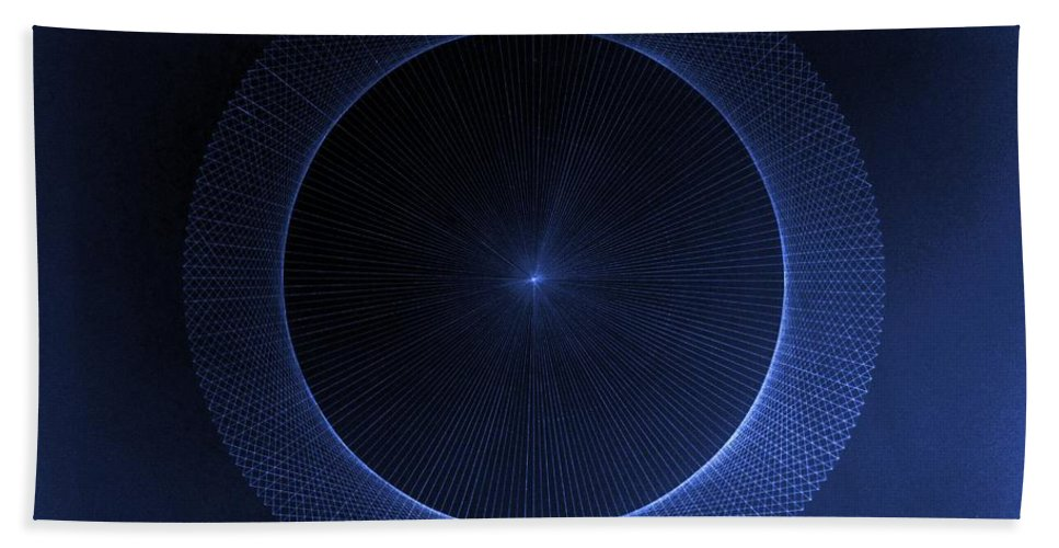 Jason Beach Towel featuring the drawing Perfect Circles Don't Exist Pi 180 by Jason Padgett