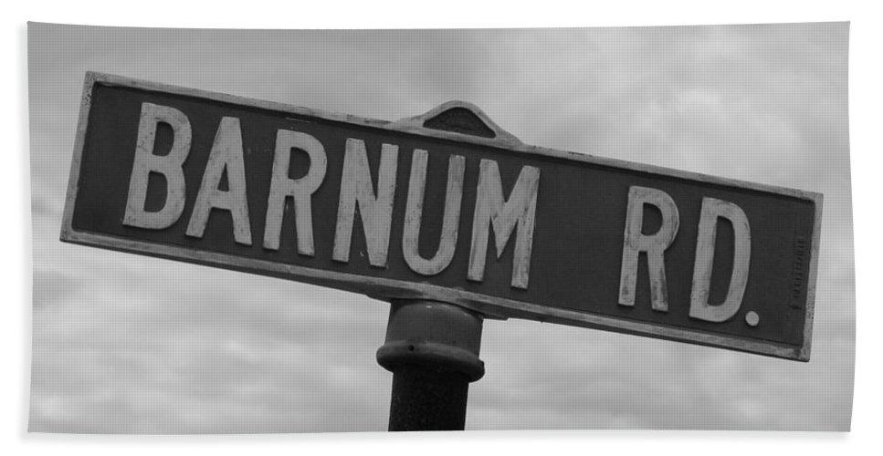 Barnum Beach Towel featuring the photograph Circus Drive by Michael Krek