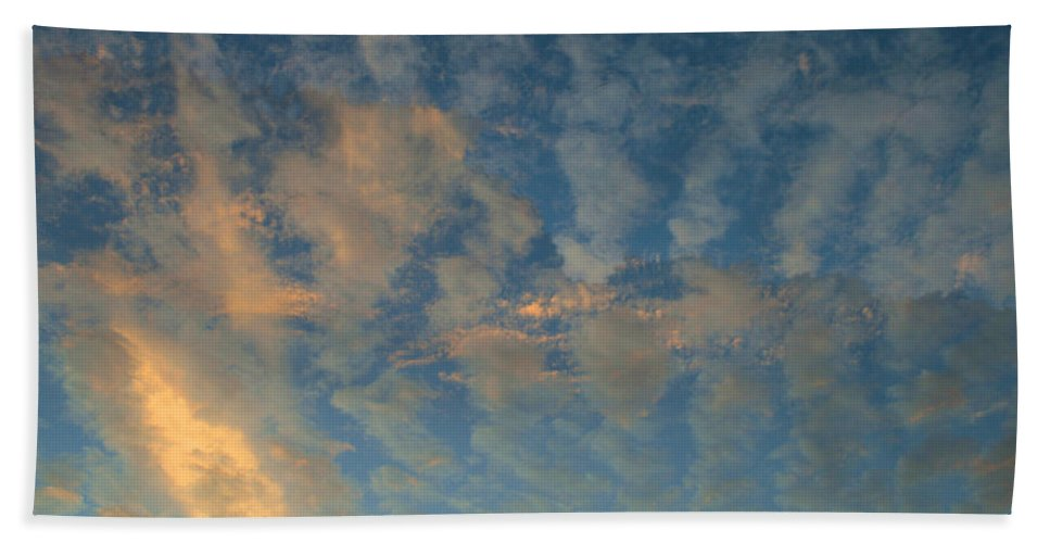 Cirrocumulus Morning Beach Towel featuring the photograph Cirrocumulus Morning by Ellen Henneke