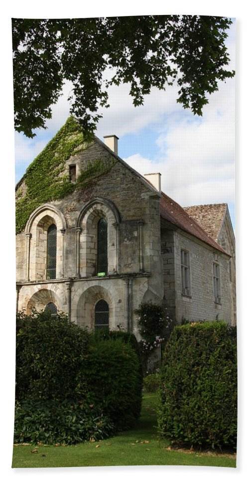 Abbey Beach Towel featuring the photograph Cistercian Abbey Of Fontenay by Christiane Schulze Art And Photography