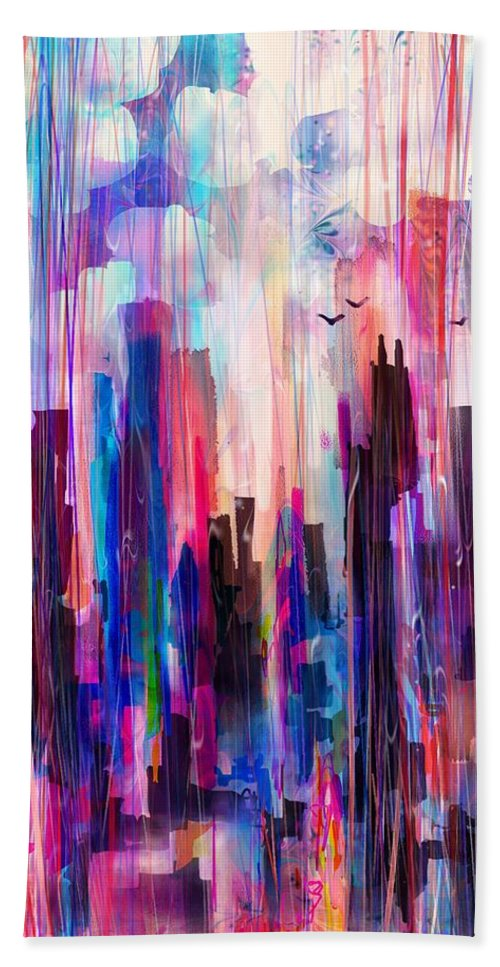 City Beach Towel featuring the digital art City Girl by William Russell Nowicki