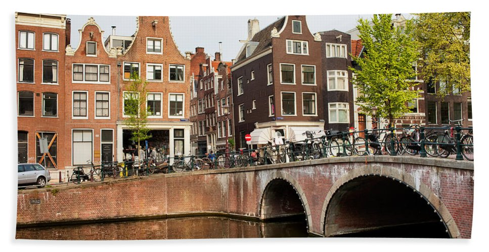 Amsterdam Beach Towel featuring the photograph City Of Amsterdam In Holland by Artur Bogacki