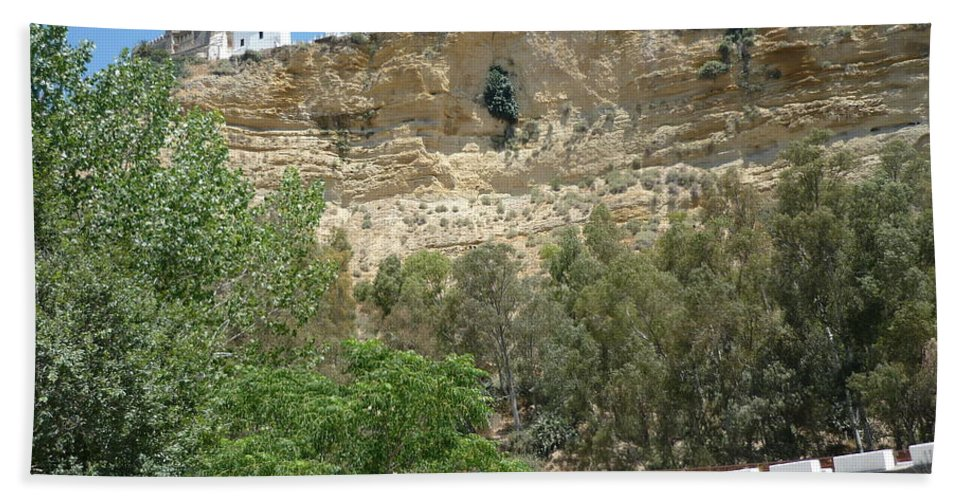Cliff City Beach Towel featuring the photograph City On A Cliff by Kimberly Maxwell Grantier