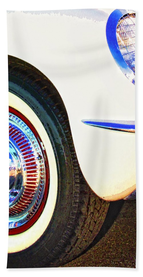 Car Auction Beach Towel featuring the photograph Classic Corvette Palm Springs by William Dey