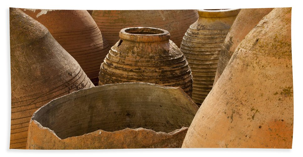 Clay Beach Towel featuring the photograph Clay Pots  #7811 by J L Woody Wooden