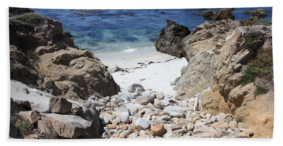Landscape Beach Sheet featuring the photograph Clear California Cove by Carol Groenen