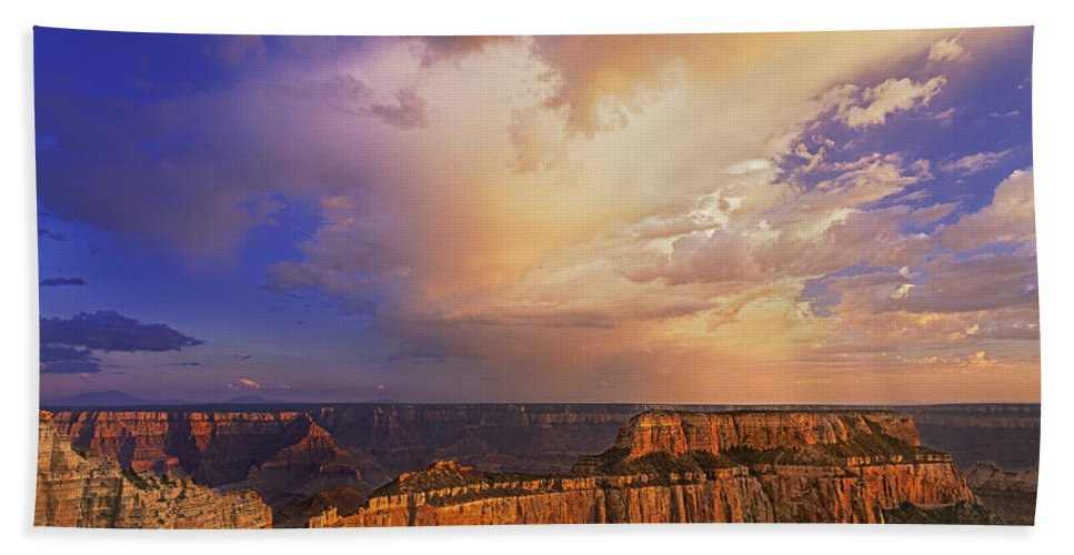 Grand Canyon Beach Towel featuring the photograph Clearing Storm Cape Royal North Rim Grand Canyon Np Arizona by Dave Welling