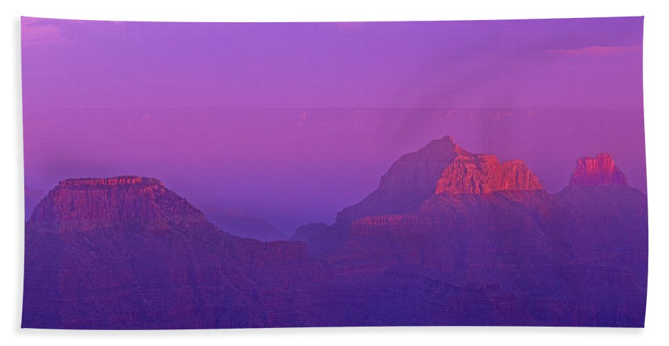 North America Beach Towel featuring the photograph Clearing Storm From North Rim Grand Canyon National Park by Dave Welling