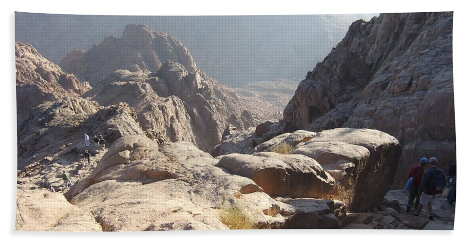 Egypt Beach Towel featuring the photograph Cliffs Of Mount Sinai by Katerina Naumenko