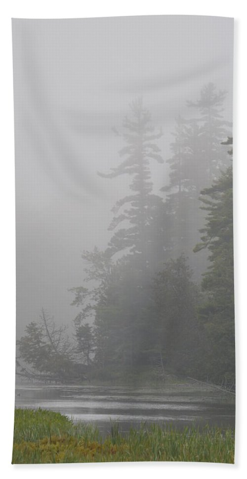 Fog Beach Towel featuring the photograph Cloud Cover by Thomas Phillips
