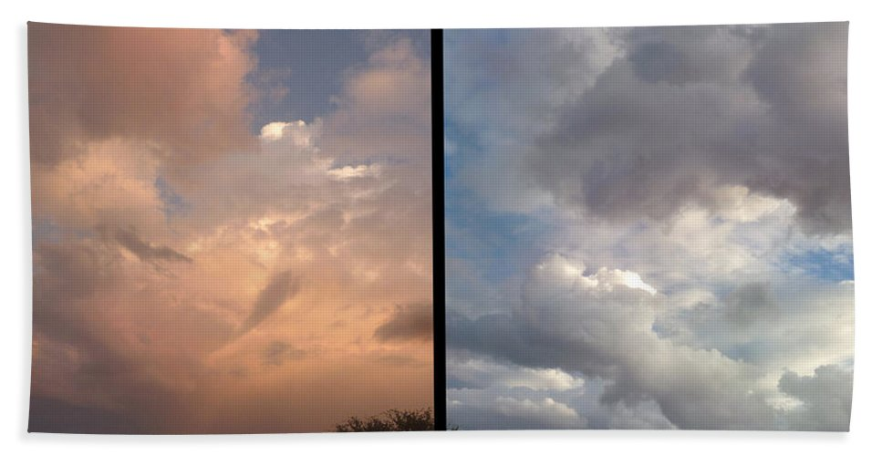 Clouds Beach Towel featuring the photograph Cloud Diptych by James W Johnson