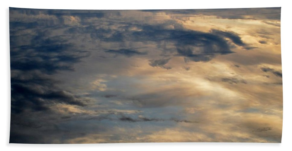 Water Beach Towel featuring the photograph Cloud Reflection by Thomas Phillips