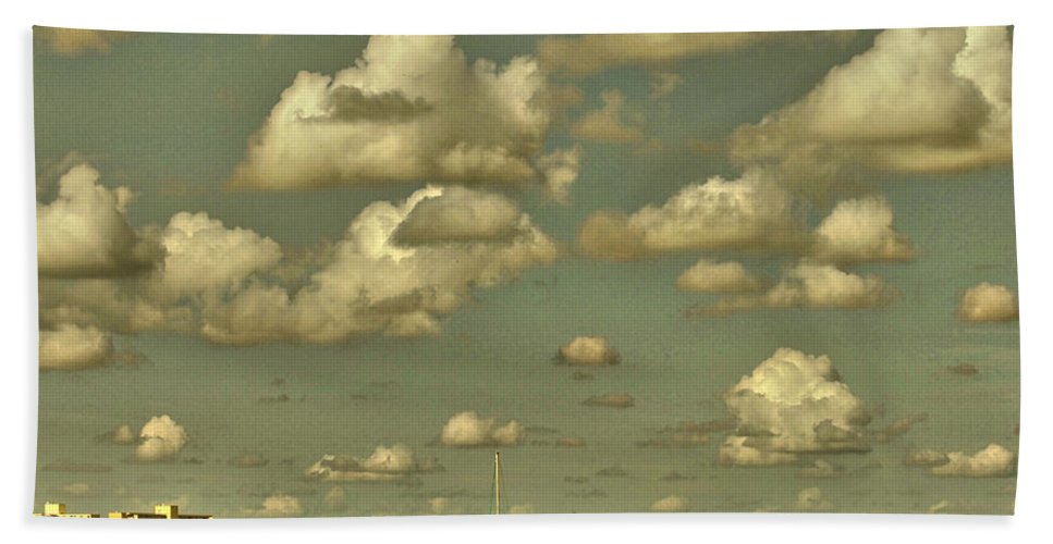 Clouds Beach Towel featuring the photograph Clouds Clouds Clouds by Alice Gipson