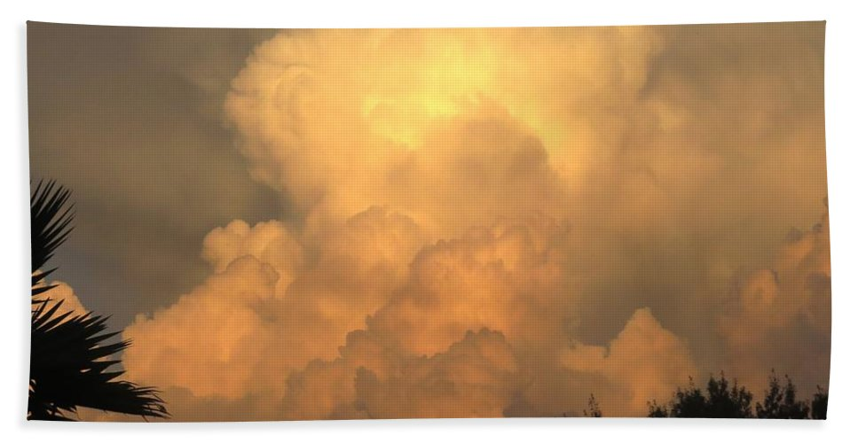 Clouds Beach Towel featuring the photograph Clouds In The Evening II by Zina Stromberg