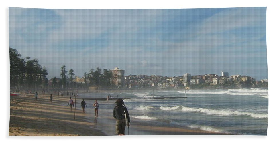 Beach Beach Towel featuring the photograph Clouds Over Manly Beach by Leanne Seymour