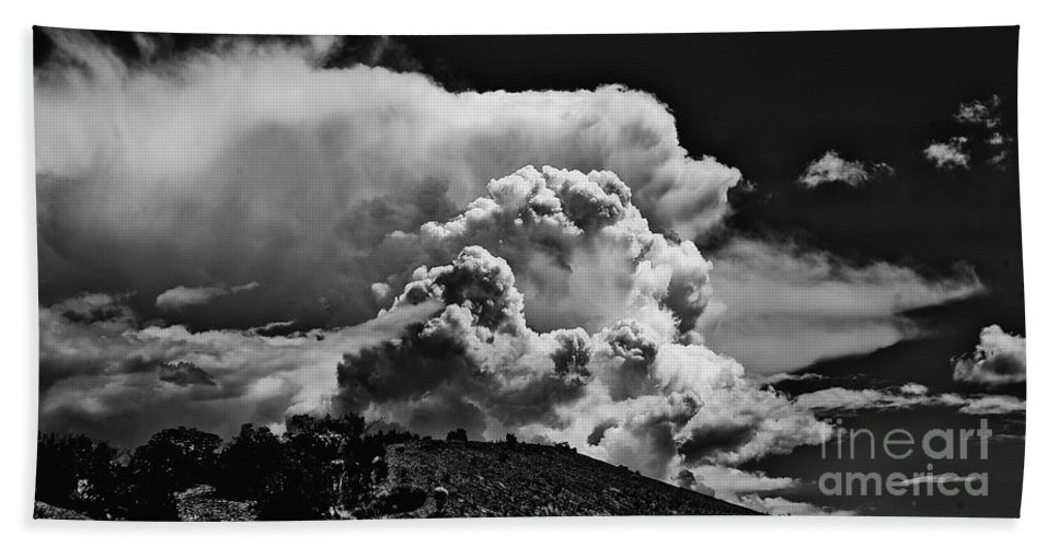 Clouds Beach Towel featuring the photograph Clouds Over Santa Fe by Madeline Ellis