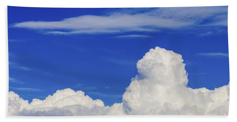 Cloud Beach Towel featuring the photograph Cloudscape by Diane Macdonald