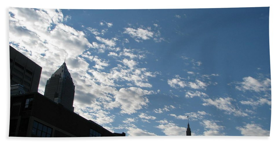 Cleveland Beach Towel featuring the photograph Cloudy In Cleveland by Michael Krek