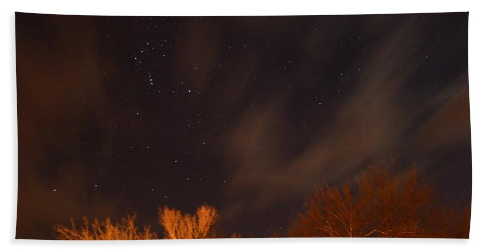 Stars Beach Towel featuring the photograph Cloudy Nights by Bonfire Photography