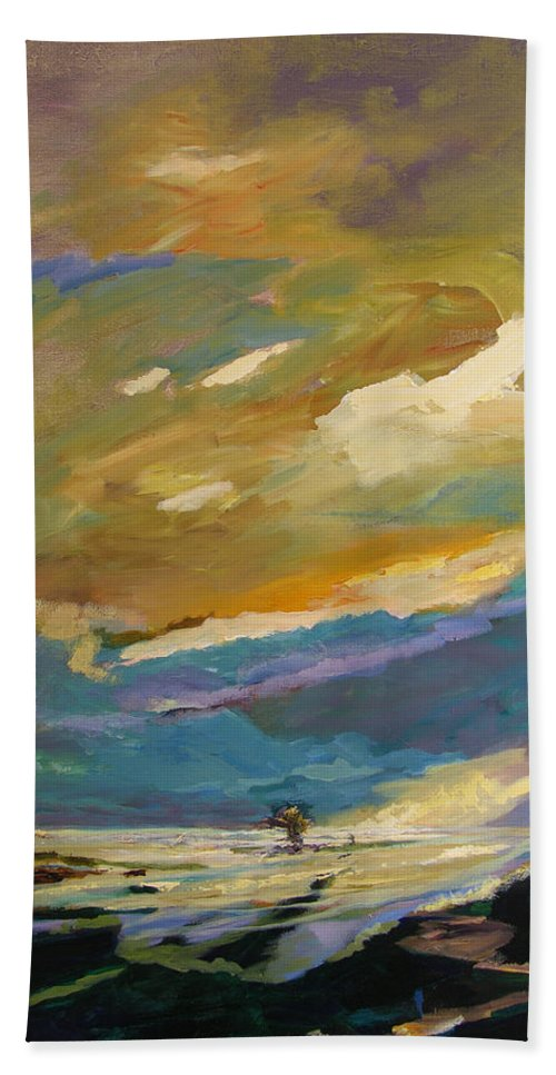 Impressionism Beach Towel featuring the painting Coastline by Julianne Felton