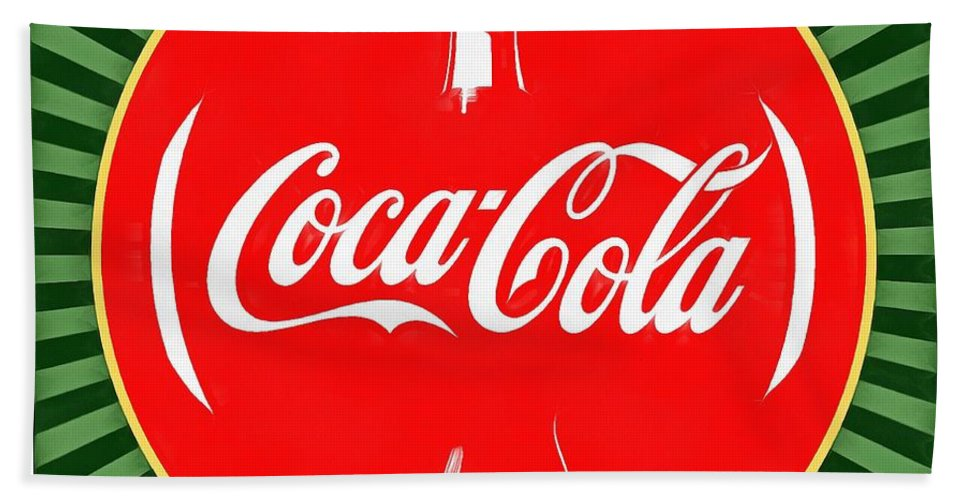 Coca Cola Pop Art Beach Towel featuring the digital art Coca Cola Pop Art by Dan Sproul