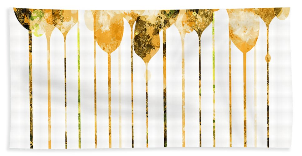 Cocktail Beach Towel featuring the mixed media Cocktail Hour 4 by Angelina Vick
