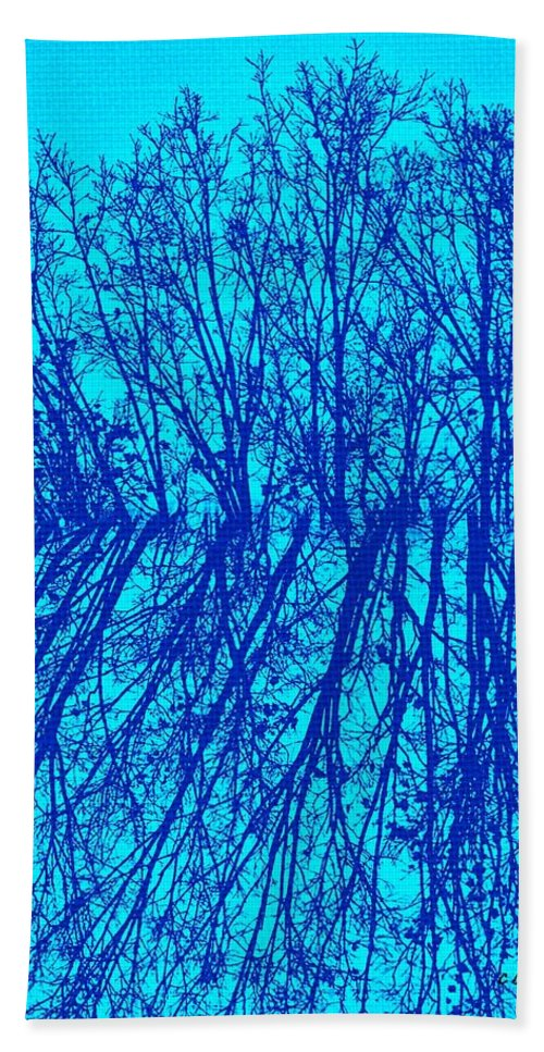 Earthy Beach Towel featuring the photograph Cold Blue by Chris Berry