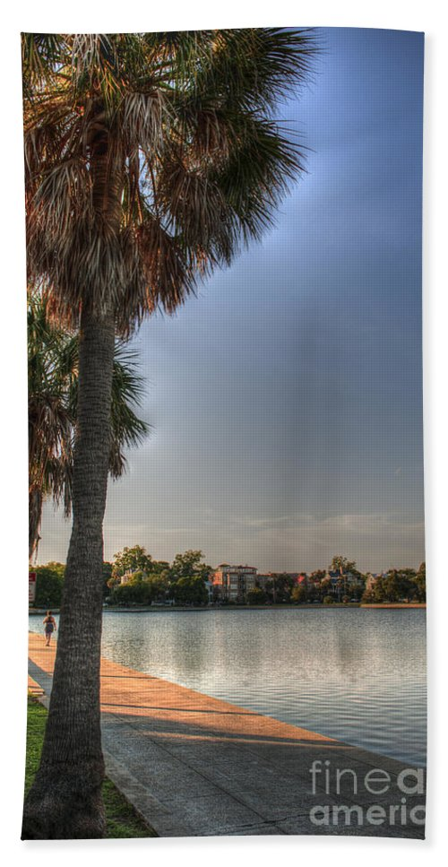 Colonial Lake Beach Towel featuring the photograph Colonial Lake by Dale Powell
