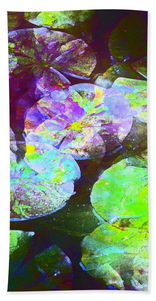 Lily Pads Beach Towel featuring the photograph Color 135 by Pamela Cooper
