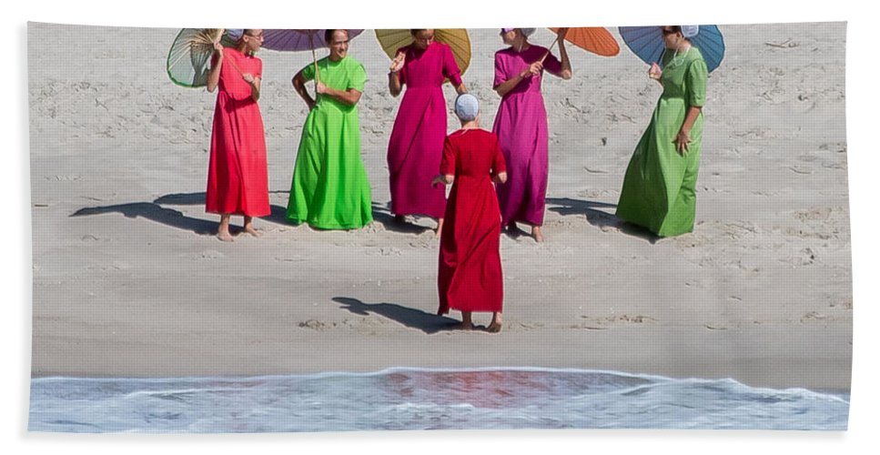 Amish Beach Towel featuring the photograph Color Girls by Gaurav Singh