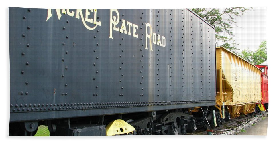 Nickel Plate Railroad Beach Towel featuring the photograph Color Of Nickel by Michael Krek