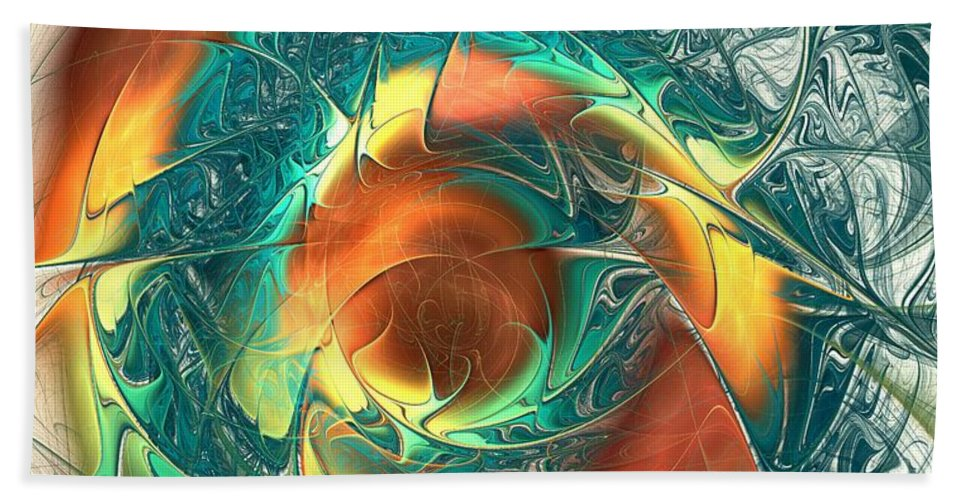 Malakhova Beach Towel featuring the digital art Color Spiral by Anastasiya Malakhova