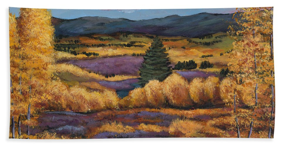 Autumn Aspen Beach Towel featuring the painting Colorado by Johnathan Harris
