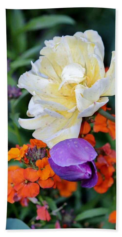 Colors Beach Towel featuring the photograph Colorful Flowers by Cynthia Guinn