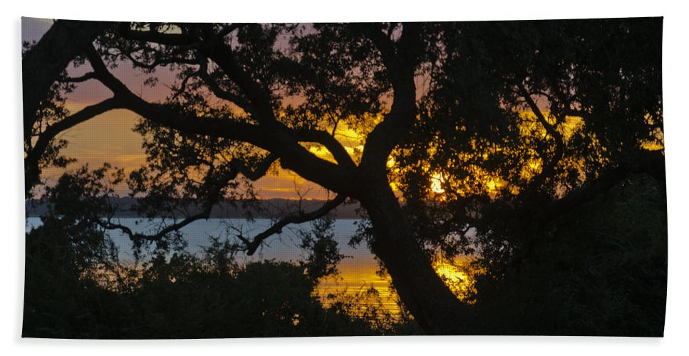 Sunset Beach Towel featuring the photograph Colorful Glow by Jennifer Stockman