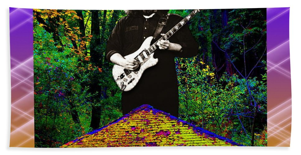 Jerry Garcia Beach Towel featuring the photograph Colorful Pyramid Concert by Ben Upham