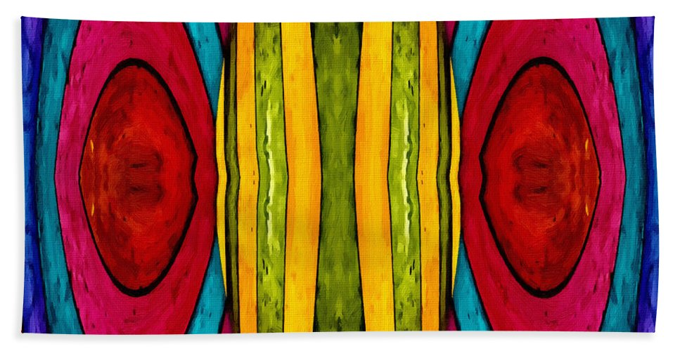 Color Colorful World Painting Abstract Expressionism Impressionism Modern Art Beach Towel featuring the painting Colorful World by Steve K